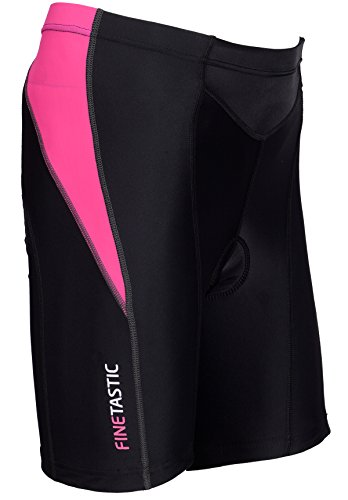Women's Cycling Shorts With 3D Gel Coolmax Pads (M, Black/Pink)