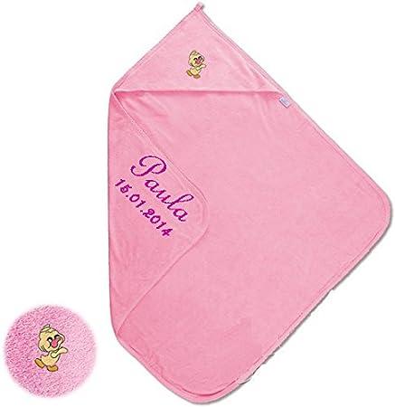 Bebé maxi con capucha toalla de mano con nombre bordados toalla con capucha XL toalla de baño: Amazon.es: Bebé
