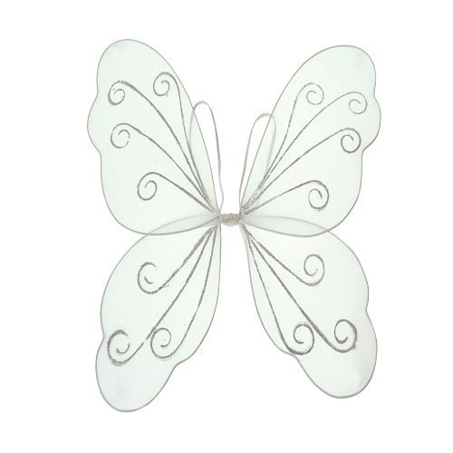 White Fairy Wings (US Toy Angelic Butterfly Wings Costume)