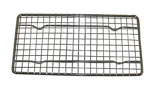 (Update International PG48 Wire Pan Grate, Quarter-Size, Chrome Plated Metal Wires)
