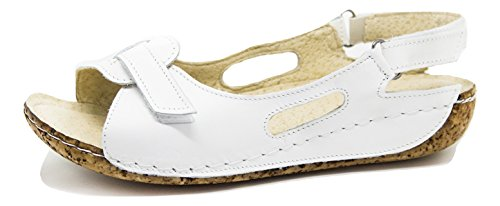 Cuir Ks® 403 Blanc Femmes D'été Pour Sandales Chaussures fTqwYf