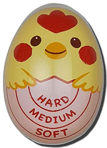 Egg Timer Color Changing Cheeky Chick for Perfect Hard Medium Soft Boiled Eggs Every Time ()