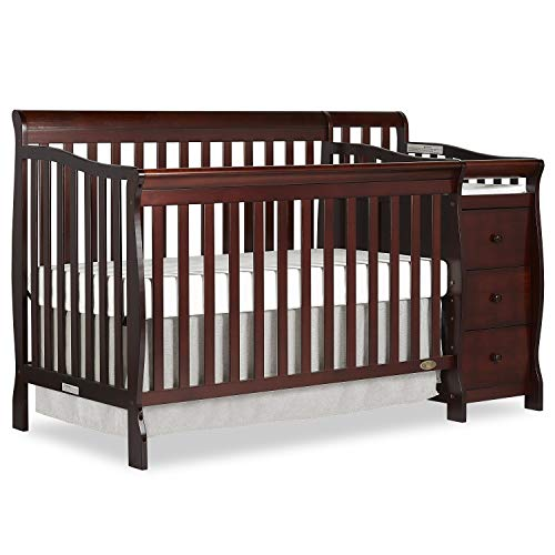 - Dream On Me 5 in 1 Brody Convertible Crib with Changer, Espresso