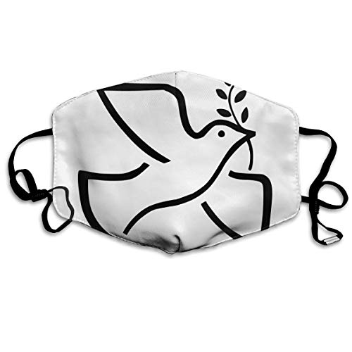 SDQQ6 Peace Symbols Columbidae Olive Branch Mouth Mask Unisex Printed Fashion Face Mask Anti-dust Masks
