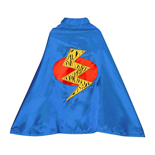 Top Boys Blue Superhero Lightning Bolt Cape free shipping