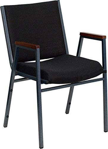 - Flash Furniture HERCULES Series Heavy Duty Black Dot Fabric Stack Chair with Arms