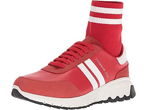 Red White NEIL BARRETT Mens Mid Hybrid Sock Runner