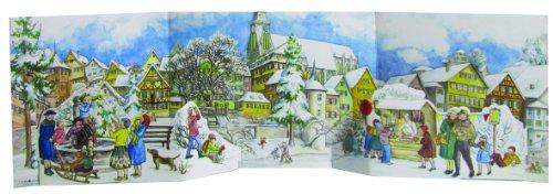 [BOOK] Richard Sellmer Verlag 3-D Winter Village Panorama German Advent Calendar Germany Christmas Countdow [P.P.T]