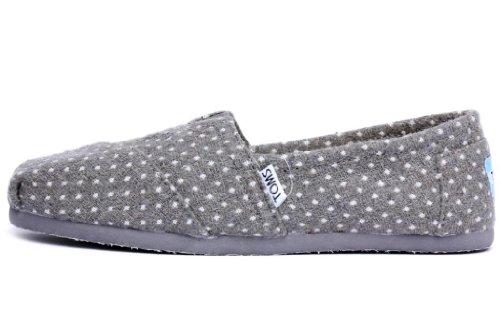 toms womens classics grey dot 001105b12 grydt 8 5 64 00