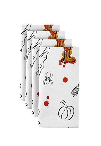 Fabric Textile Products Halloween Sketch Napkins 18