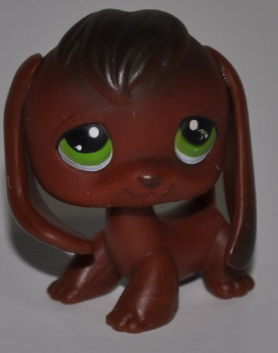 Beagle #77 (Dark Brown, Green Eyes) - Littlest Pet Shop (Retired) Collector Toy - LPS Collectible Replacement Figure - Loose (OOP Out of Package & Print)