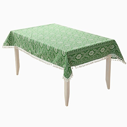 DXG&FX Simple thick canvas cloth Cover cloth towel cover Home Wallpapers American-style tablecloths table cloth Tassels Wallpapers-A 140x220cm(55x87inch)