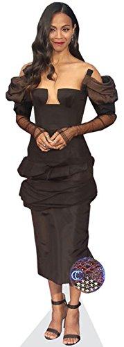 Zoe Saldana (Black Dress) Life Size - Zoe Saldana Home