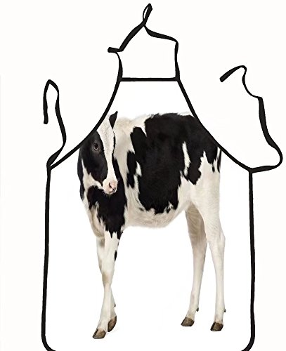 chanrancase tailored apron side view of a calf months old looking backwa Children, unisex kitchen apron, adjustable neck for barbecue 17.7x26.6+10.2(neck) - Men Women Looking Manila For