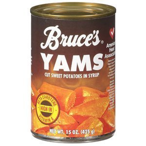 Bruce's Yams, Sweet Potatoes in Syrup, 15 oz can (8 pack) Canned Sweet Potatoes