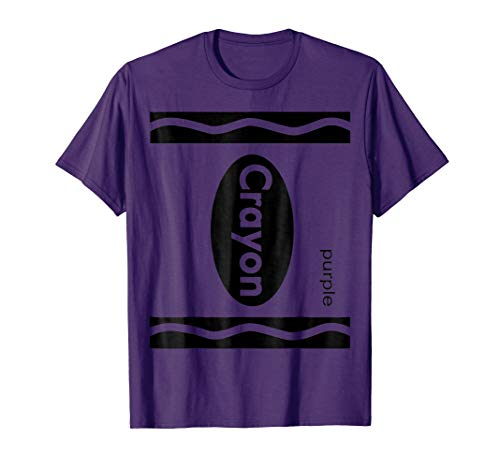 Purple Crayon Shirt Halloween Group Costume T-Shirt -