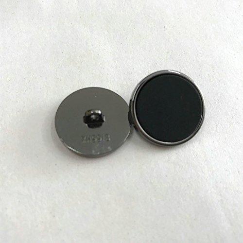 JUNHAO 10pcs Flat Surface with black silver rim - For Blazer, Suits, Sport Coat, Uniform, Jacket