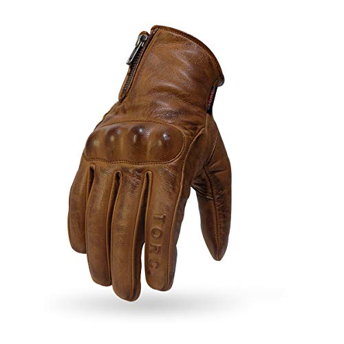 (TORC Women Motorcycle Gloves Beverly Hills Khaki-Medium)