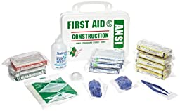 First Voice CFA01 Construction First Aid Kit with Weatherproof Plastic Case