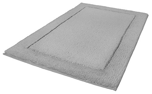 Kleine Wolke Eco Living Tarifa Natural Cotton/polyester Bathroom Rugs (Silver Grey, 27.6x47.2in) by Kleine Wolke