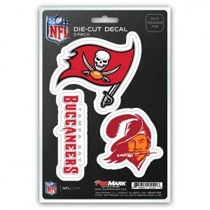 NFL Tampa Bay Buccaneers Team Decal, 3-Pack (Tampa Bay Buccaneers Merchandise)