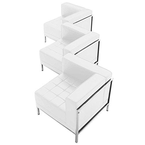 Flash Furniture Hercules Imagination Series White Leather 3