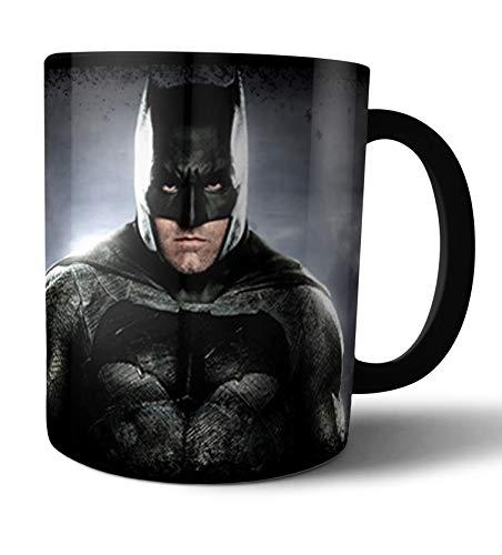 Caneca de porcelana preta Batman Liga da Justiça Live Comics