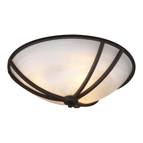 PLC Lighting 14861 ORB 2-Light Ceiling Light Highland Collection (Cottage Collections Lighting)