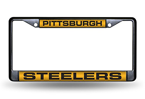 NFL Pittsburgh Steelers Laser License Plate Frame, Black