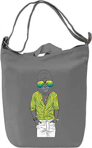 Cool gorilla Borsa Giornaliera Canvas Canvas Day Bag  100% Premium Cotton Canvas  DTG Printing 