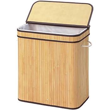 Amazon Com Whitmor Bamboo Hamper W Rope Handles Home Amp Kitchen
