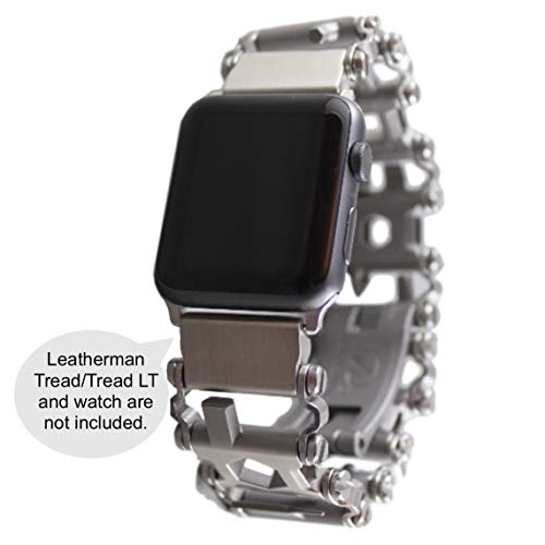 BestTechTool watch adapter compatible with LEATHERMAN TREAD - BTT adapter (Watch lug width=20mm, Stainless Steel, TREAD)