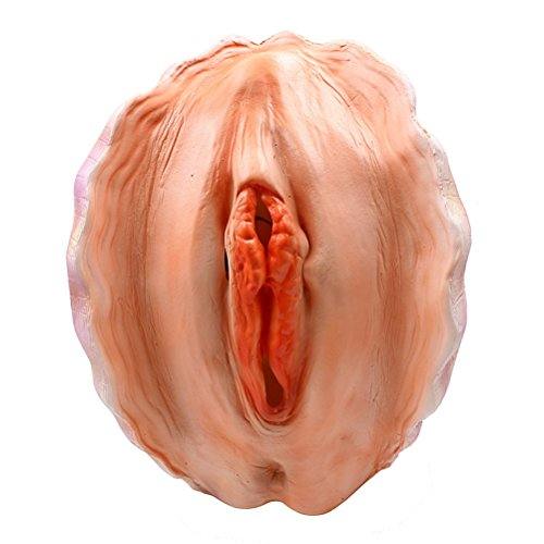 OULII Creepy Latex Head Mask for Halloween Costume Cosplay Party Adult Size (Shell)
