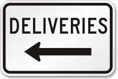 Deliveries Sign Safety Sign 8x12 Tin Metal Signs Road Street Sign Outdoor Decor Caution Signs by PaBoe