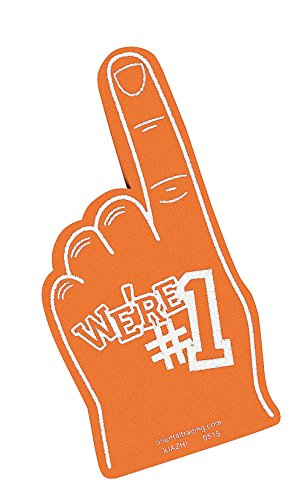 er Team Color Cheerleading Foam Hand (Orange) (Orange Team Color)