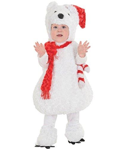 Underwraps Baby Christmas Polar Bear Costume, White/Red, Large -