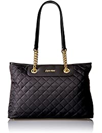 Quilted Nylon Chain Key Item Tote