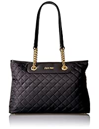 Calvin Klein Quilted Nylon Chain Key Item Tote
