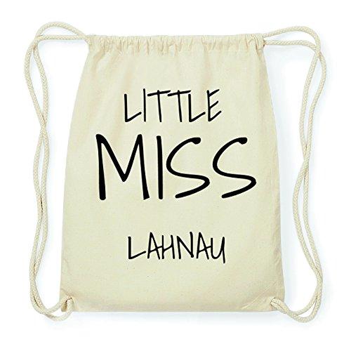 JOllify LAHNAU Hipster Turnbeutel Tasche Rucksack aus Baumwolle - Farbe: natur Design: Little Miss