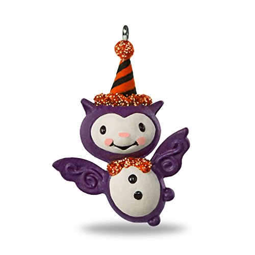 Hallmark Keepsake Halloween Decor Mini Ornament 2018 Year Dated, Bitty Bat Miniature, 1.41