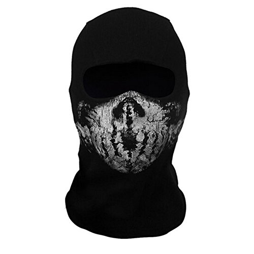 Onairmall Call of Duty 10 COD Ghost Hoods Skull Skeleton Head Mask Hood Biker-3 (Cod Ghost Stuff)