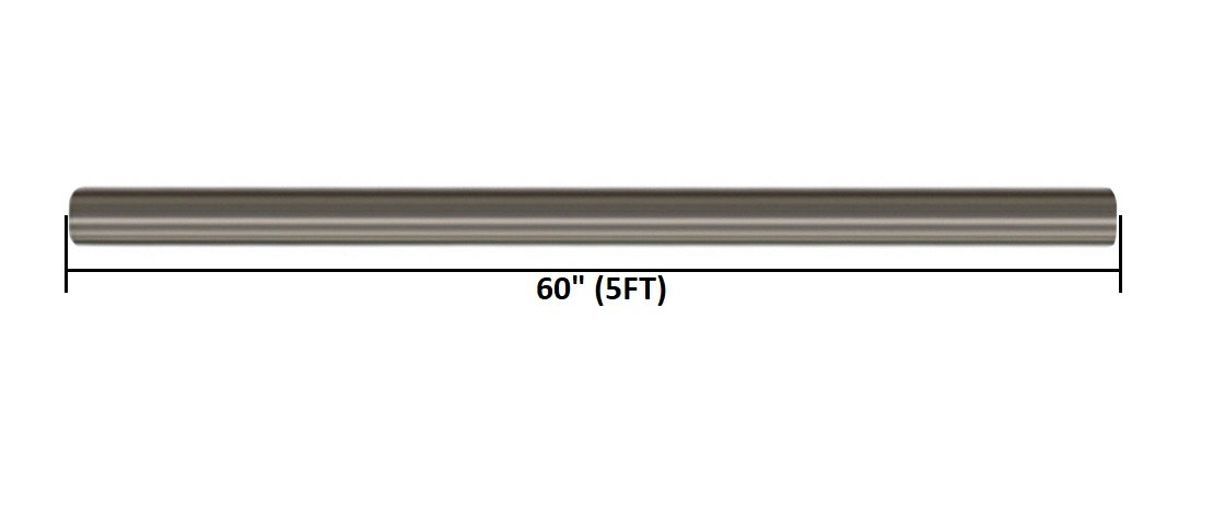 Stainless Steel Straight Exhaust Pipe (2.25'' inch OD 5' feet Long)