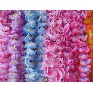 Jumbo Two-Tone Maui Flower Leis (1 dz) (Flower Tone Lei Two)