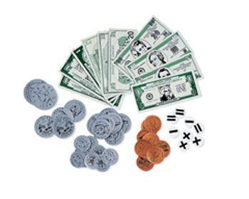 4 Pack LEARNING RESOURCES MAGNETIC MONEY 54/PK COINS & BILLS by Learning Resources