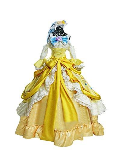 Mtxc Women's Love Live! Cosplay Rin Hoshizora Ball Dress SR Card Ver. Size Medium Yellow by Mtxc (Image #1)