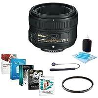 Nikon 50mm f/1.8G AF-S NIKKOR Lens - USA Bundle with 58mm Filter Kit & Pro Software Set