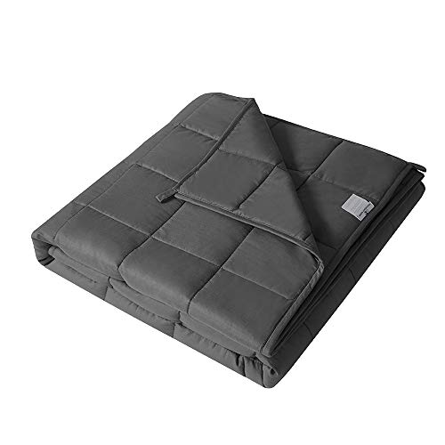 Cheap D&Y Home Collection 100% Cotton Weighted Blanket | 60 x80 25lb | Suitable for Adult Kids Men Women Youths | Fit Queen and King Size Bed | Dark Grey Glass Beads Heavy Blanket Black Friday & Cyber Monday 2019