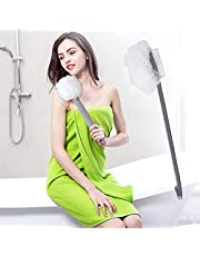 Shower Body Brushes, Long Handle Bath Shower Brush, Soft Back Scrubber Bath Body Brush, Back Scrubber for Bath and Shower Exfoliating Skin, Double-sided Back Scrubber, 2 in 1