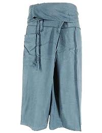 Night Bazaar:Cool Thai Fisherman Pants Yoga Trousers FREE SIZE Plus Size Cotton Rayon