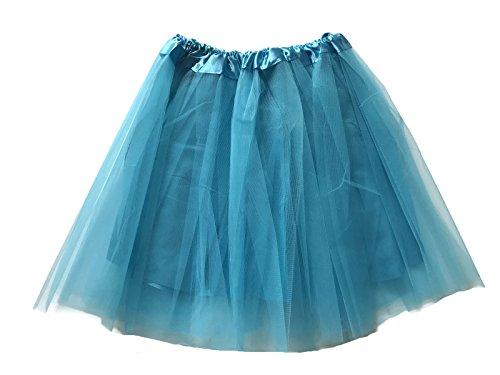 Rush Dance Teen Adult Classic Ballerina 3 Layers Satin Lining Tulle Tutu Skirt (Teen/Adult, -